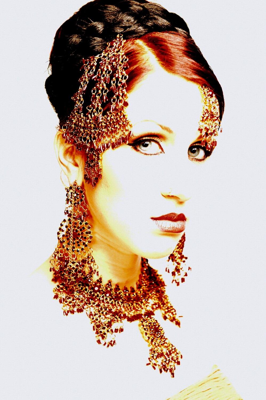 Photographer of Asian fashion jewellery, stunning and stylish portrait photography, Birmingham