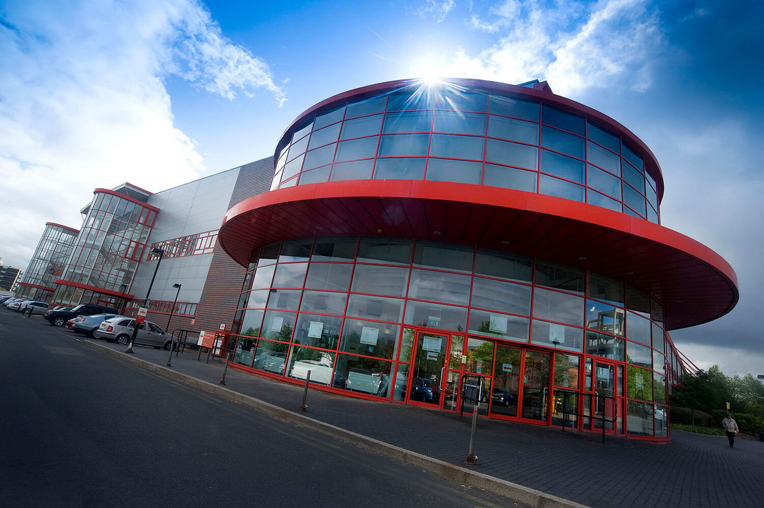 Commercial property photography, interior and exterior, Royal Mail HQ in Wolverhampton, Birmingham for portfolio