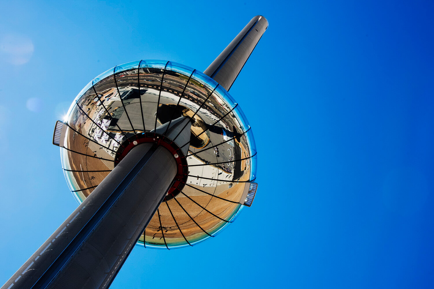 Architectural, artistic and diverse photography based in Birmingham for editorial and PR. British Airways i-360 travel pod in Brighton