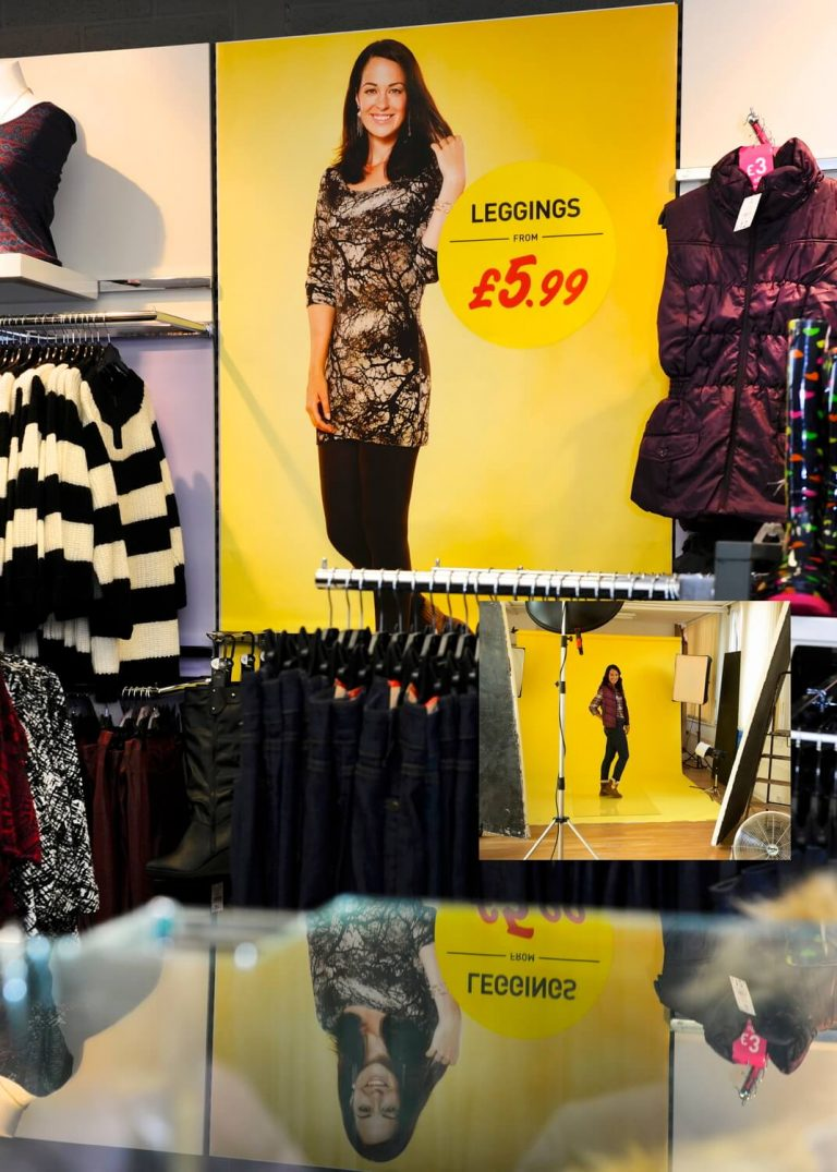 Advertising fashion photography for retail in Birmingham - Point of Sale