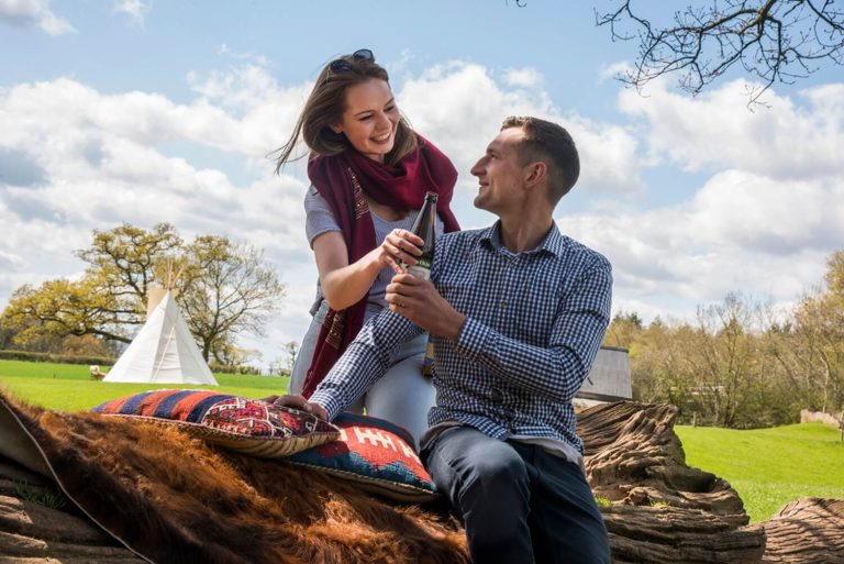 Lifestyle advertising photography in West Midlands and Herefordshire – Teepee Tents