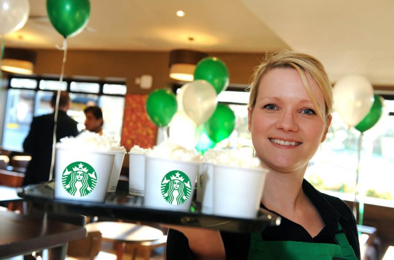 Advertising and PR Agency Photography for Starbucks, PR Photographer for Franchise Launch, Starbucks, Leading Birmingham Based Photographer
