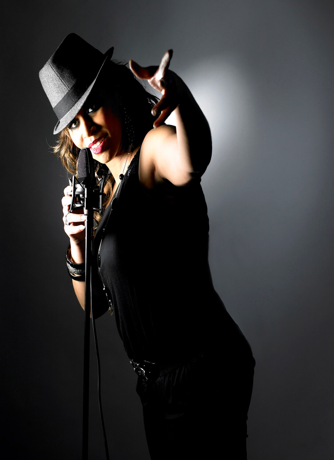 Studio portrait photographer for singer and musician on location, Powerful, vibrant photography in Birmingham