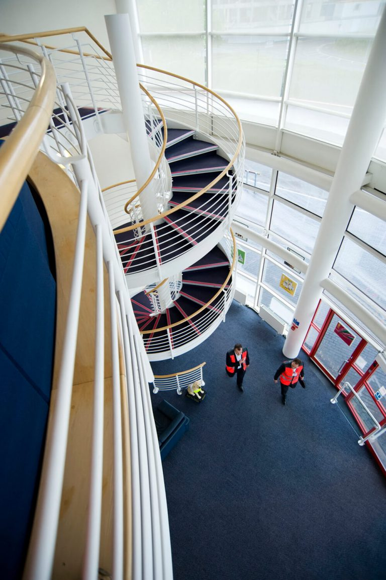 Interior commercial property photography, Royal Mail HQ, Wolverhampton, Birmingham architecture photographer