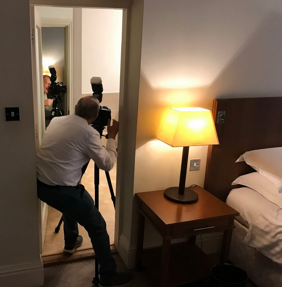 Always commission a small enough photographer to enable them to shoot in the tightest of places.