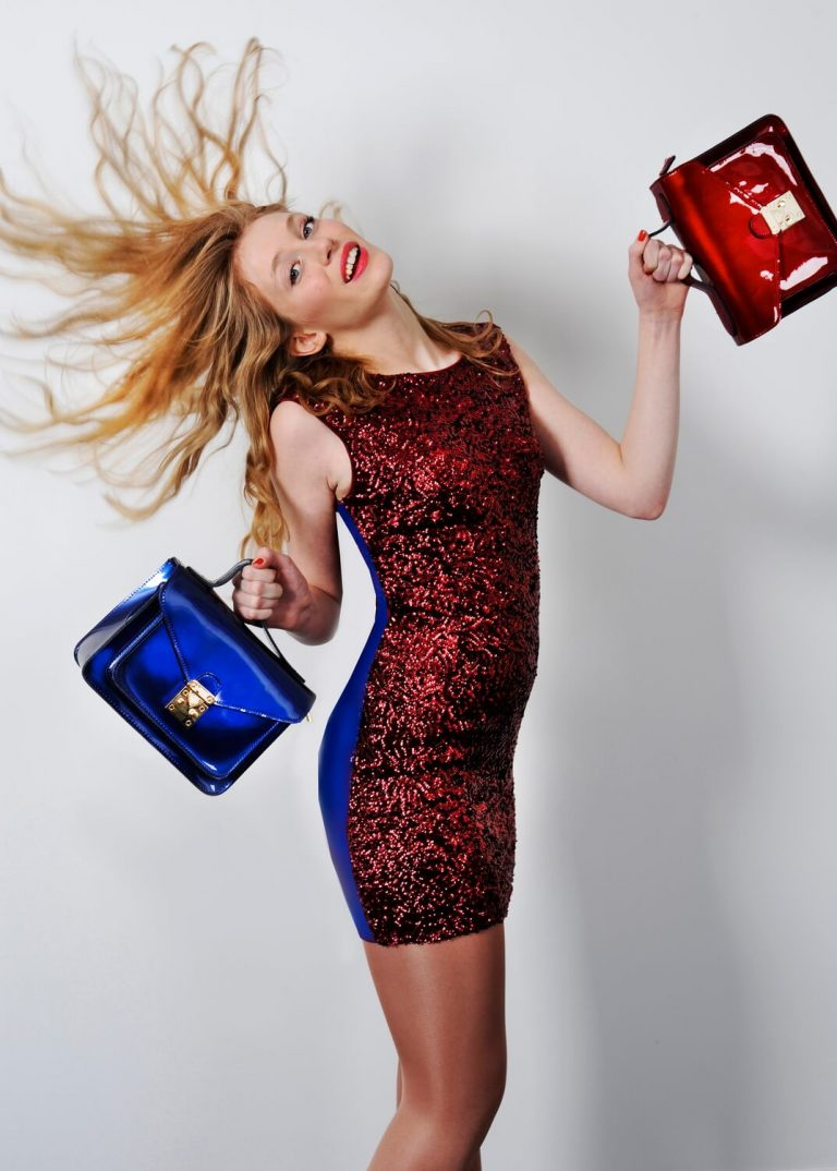Advertising fashion campaign photography for high street store suppliers in Birmingham - Elle's Handbags