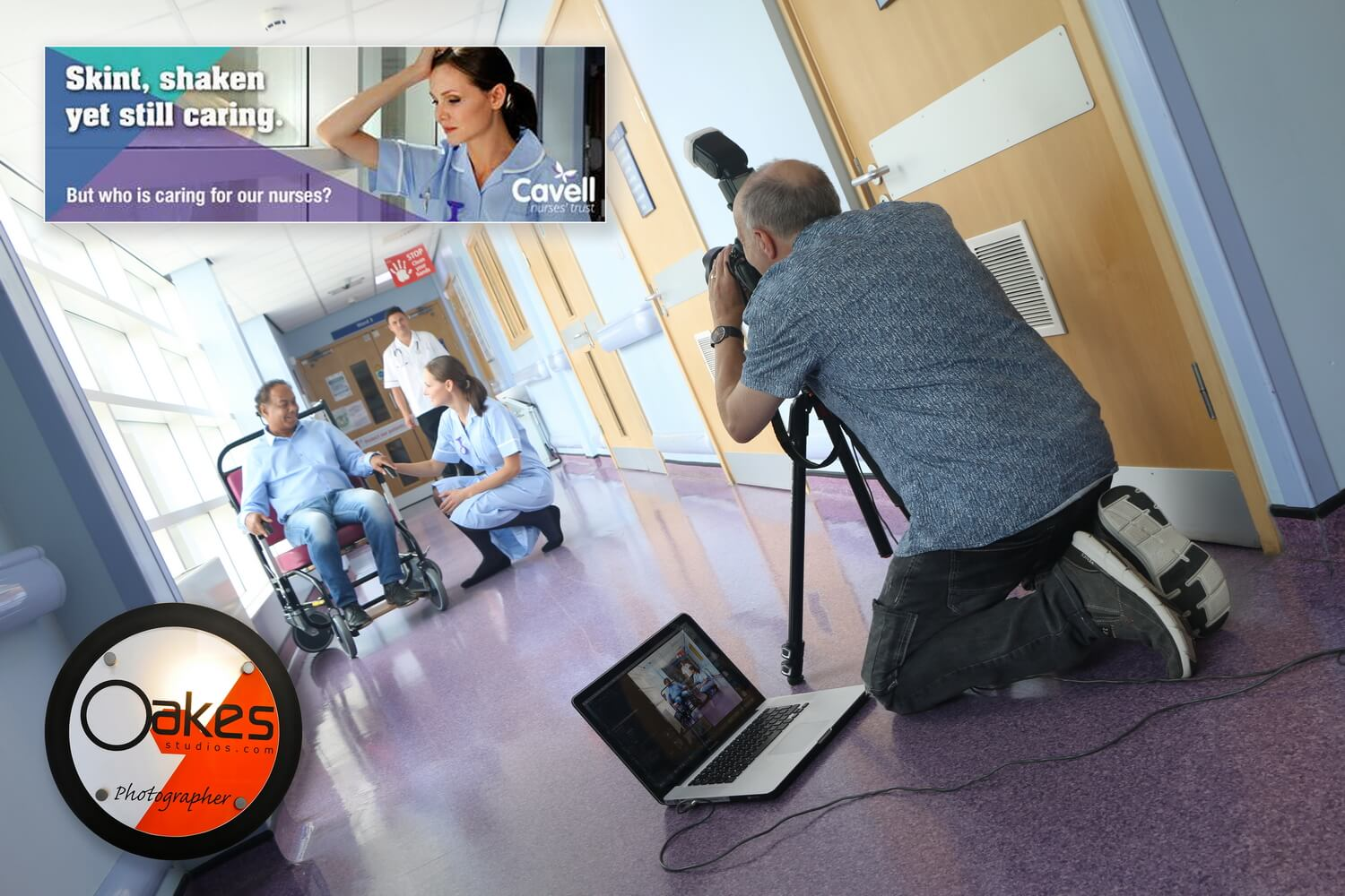 Charity advertising photography in Birmingham - Cavell Nurses campaign