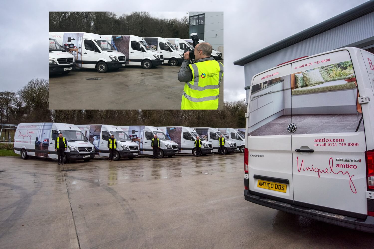 The Fleet of vehicles at Amtico International, Coventry. Drivers - Start your engines!