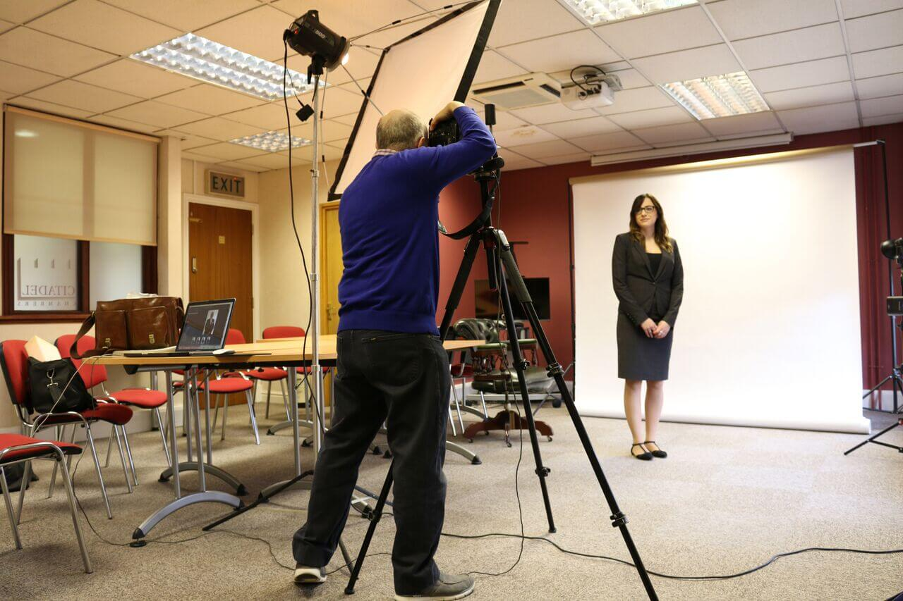 Set up for professional portrait photograpjhy, Birmingham