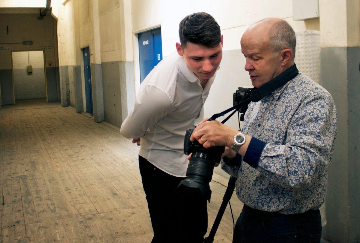Actor Portfolio Photo Shoot, Birmingham, Phil Houghton and Graham discuss images