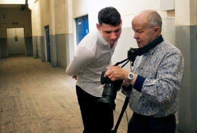Actor Portfolio Photo Shoot, Birmingham, Phil Houghton and Graham discuss images