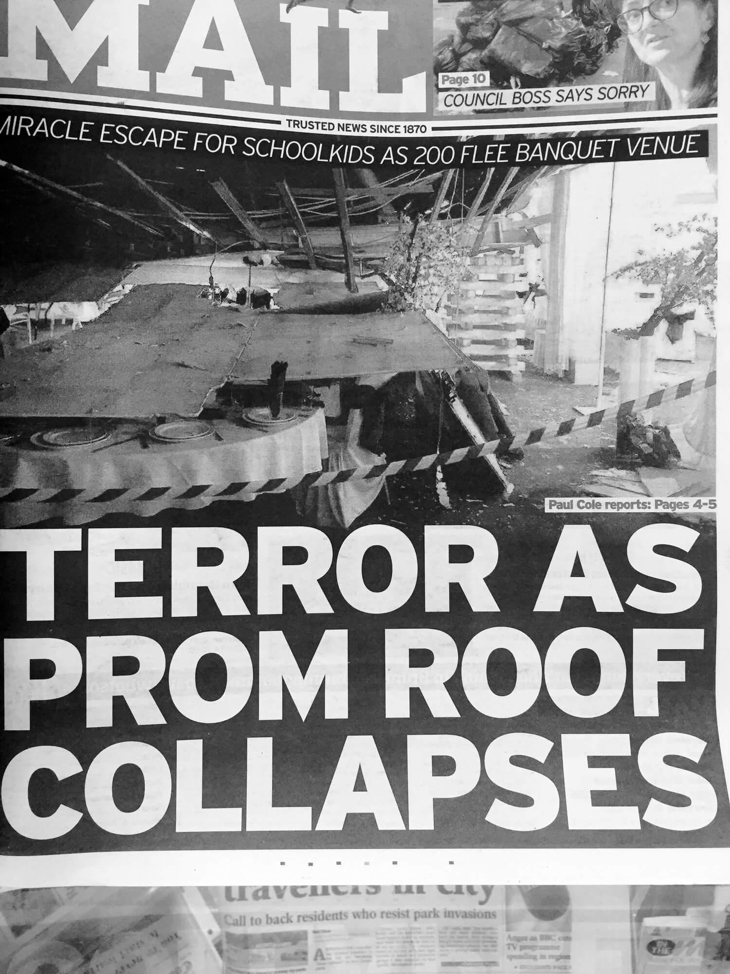 Venue collapses!