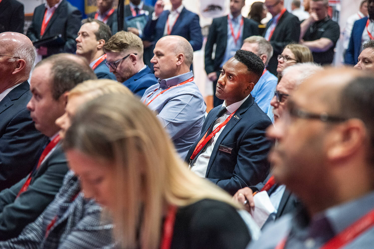 Conference and Event Coverage. Coventry and Birmingham. A lifestyle image of delegates at a large event in the West Midlands.