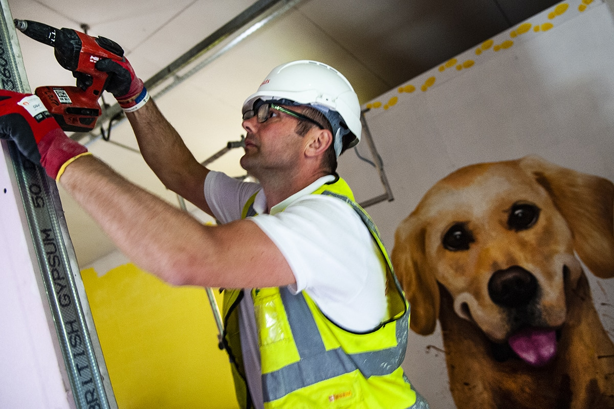 Guide Dogs building construction - PR PHOTOGRAPHY